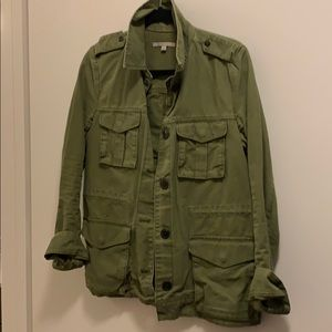 Gap Olive Green Army Military Jacket Small Cotton